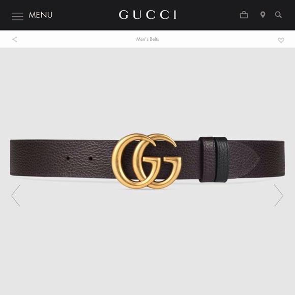 b33326b6070 Gucci Other - Gucci Calfskin Double G Reversible Belt